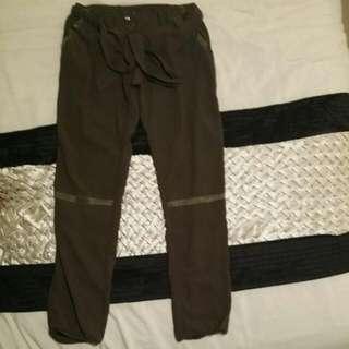 Greenish High Wasted Pants
