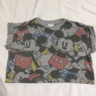 Disney Mickey And Minnie Mouse Crop Top