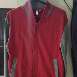 Penshoppe Red/Grey Varsity Jacket