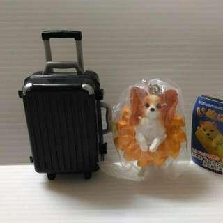 行李箱+約克夏 扭蛋