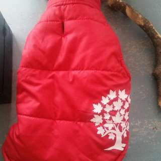 Small Dog Reversible Bubble Vest -Canadiana