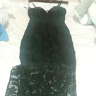 Seduce! Black Lace Dress
