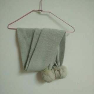 羊毛可愛球球圍巾