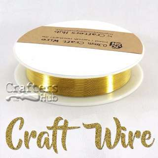 0.3 / 1 mm tarnish resistant gold colour copper craft / jewelry / shaping / beading wire for DIY / handmade accessories / jewelry findings material supplies / wire wrapping / home decor project