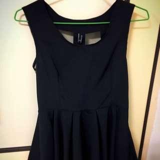 黑色 短版 性感 小洋裝