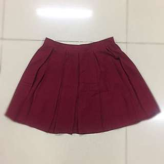 English Maroon Skirt