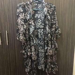 Ruffled kimono?