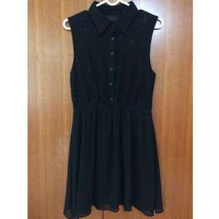 黑色蕾絲洋裝M號