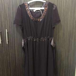 Eggplant Brown Dress, Chaka Dress Beware Haha