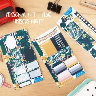 Planner and Journaling Stickers | Hibiscus Night