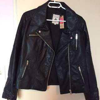 Faux Leather Jacket New!