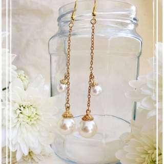 *NEW* Double Pearl Earrings