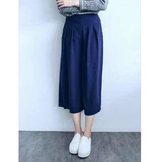 深寶藍寬褲