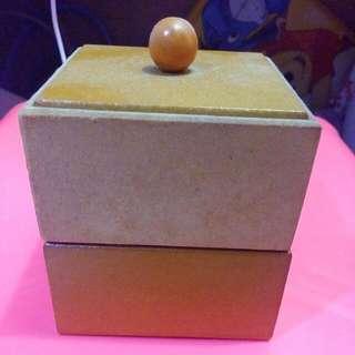 復古雙層拼色收納盒