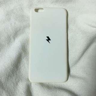 🚚 iPhone6 Plus磨砂手機殼 白底閃電⚡️