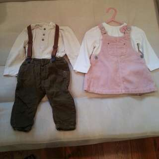 ZARA outfits 6-9 Months