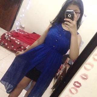 ✨Blue Slit Dress Top✨