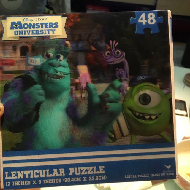 怪獸電力公司48片拼圖3D
