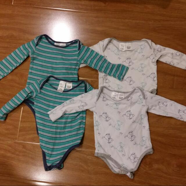 4 Long Sleeves Body Suit Size 0