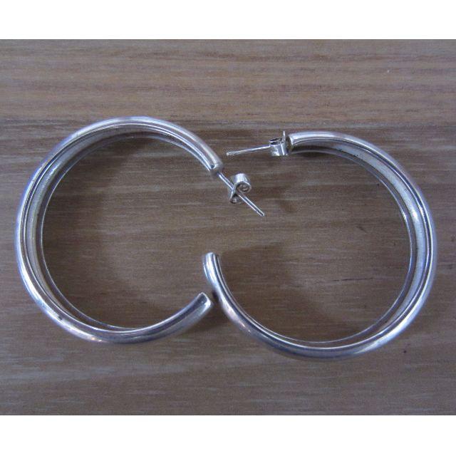 925 Silver round hoop Earrings(4003)