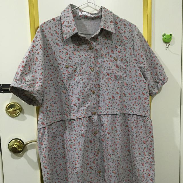 碎花襯衫洋裝