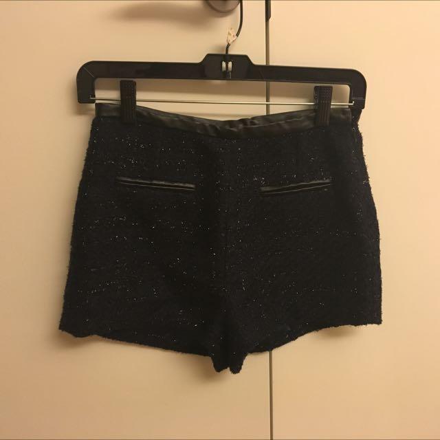 韓國金蔥毛料短褲