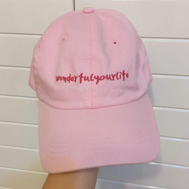 粉色 帽子