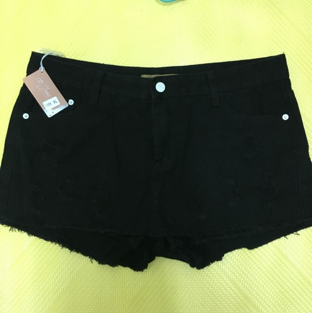 黑色 牛仔褲裙