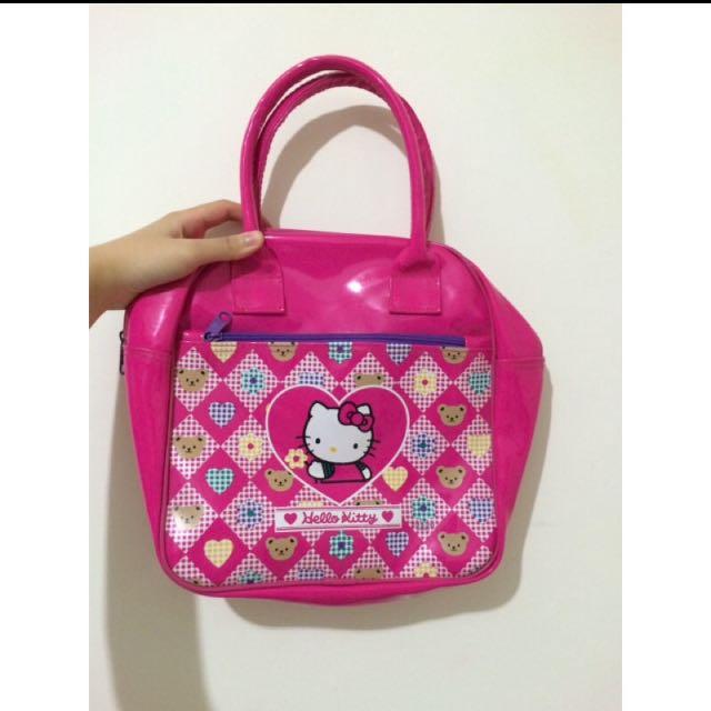 正版 日本帶回 三麗鷗 Hello Kitty 粉紅色 手提包