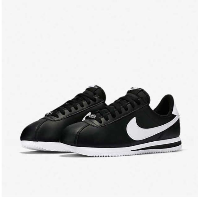 預購//韓國直送 Nike 阿甘鞋 皮革款 黑白兩色