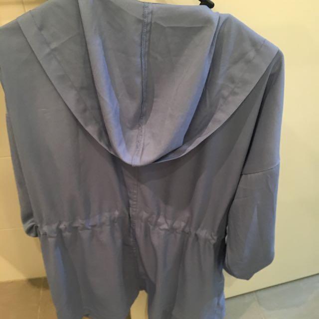 Baby Blue Over Sized Jacket