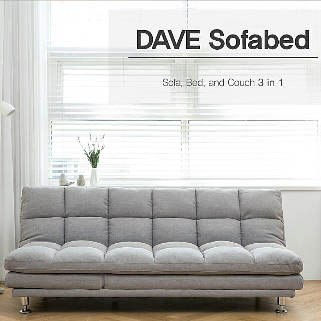 Brand New Dave Sofa Bed Couch 3 In 1 Leather Or Fabric