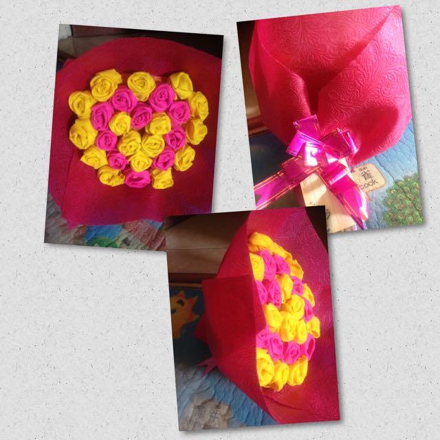 Buket Bunga Kain Flanel Design Craft On Carousell