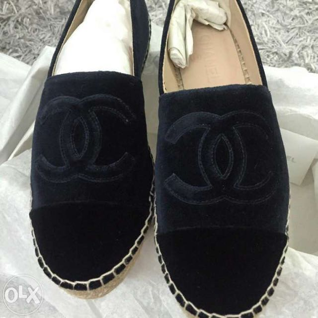 Chanel Shoes Espadrilles (flats) - Black Suede Shoes