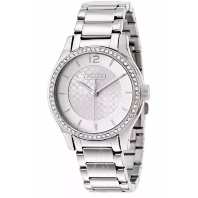 Coach Maddy W6045 Silver Plated Bracelet Women's Watch