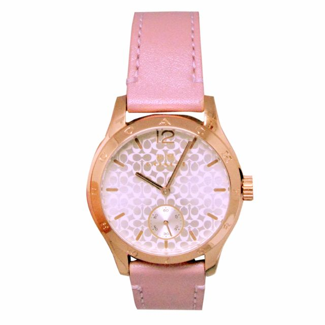 Coach W6061 Maddy Rose Gold Watch with Pink Calf Skin Leather Strap