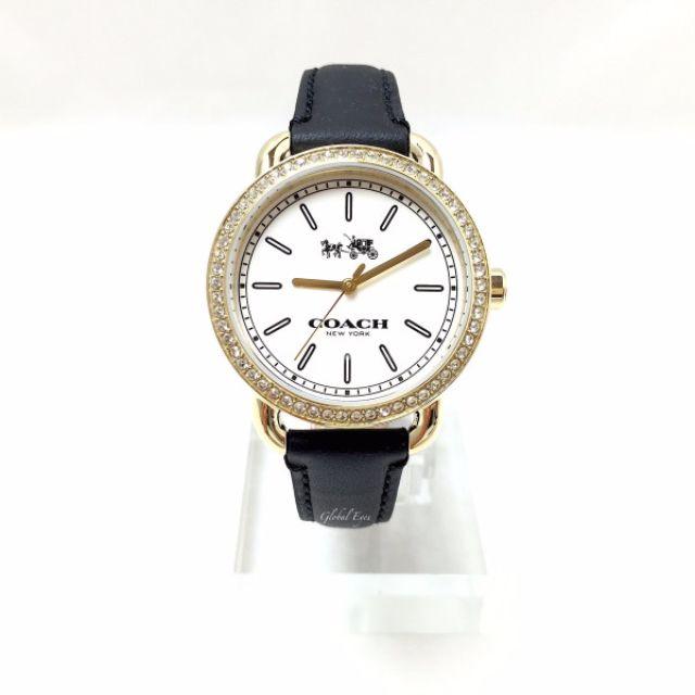 Coach Women's Quartz Black Leather Strap Watch W6052