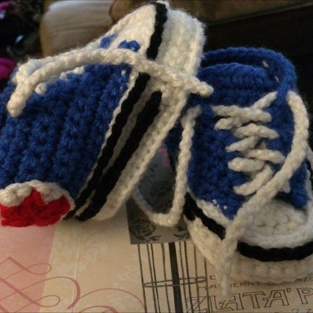 Crochet Converse Style Shoe