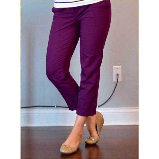Crop Pants - Purple