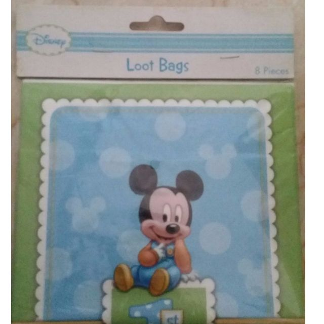 Disneys Baby Mickey 1st Birthday Party Loot Bags For Gifts