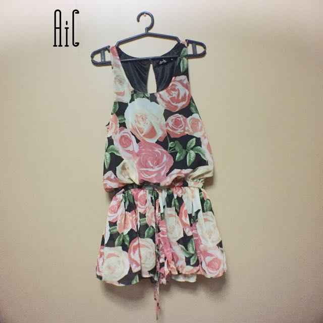 Floral Overall shorts (looks like a skirt)