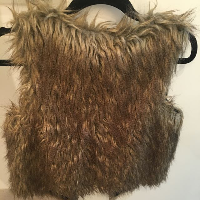 Fur Sleeveless Jacket