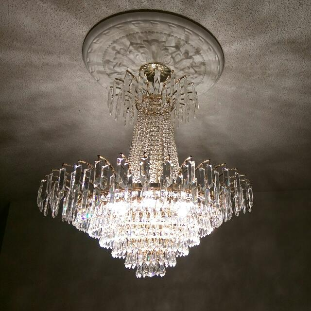 Glass Chandelier (Price Negotiable)