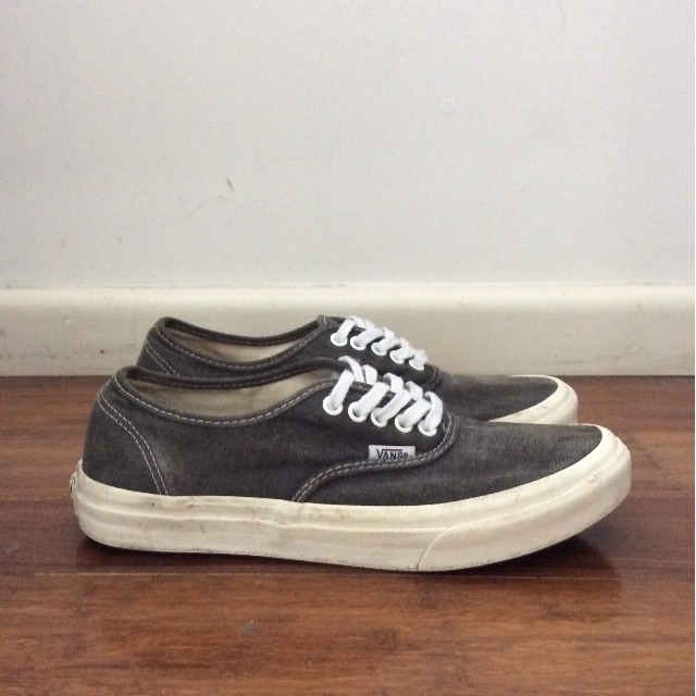 Gray 'stonewash' Vans