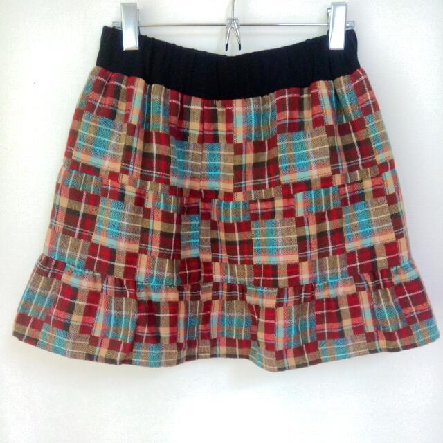 H2O格紋短裙
