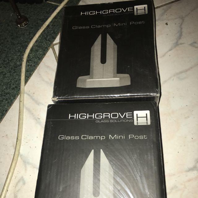 Highgrove Glass Clamp Mini Posts