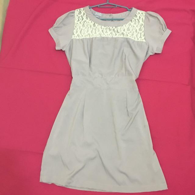 Reserved: Juana Lavender-Gray Dress