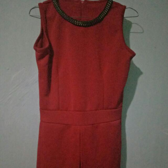 Jumsuit Red