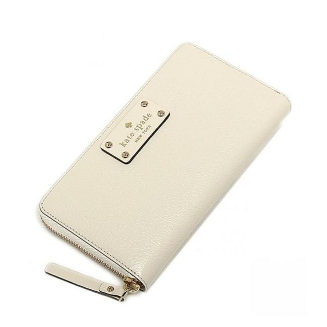 Kate Spade New York Neda Wellesley Leather Zip Around Wallet (Porcelain)    Be the first to review this product