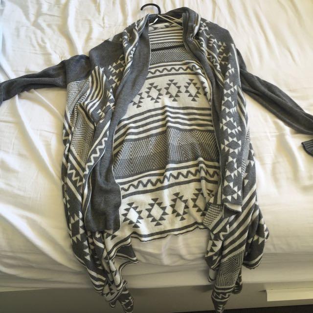 Knit Cardigan Aztec Pattern